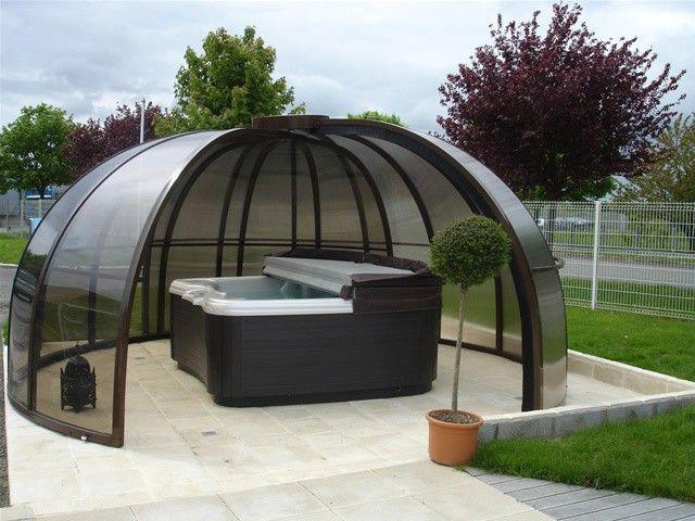 un abri pour spa extérieur | tiendas o carpas en 2019 | jacuzzi