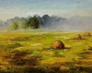 """Haystacks by Nina R. Aide Oil ~ 8"""" x 10"""""""