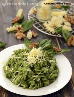 Creamy Pesto Pasta ( Tiffin Treats)