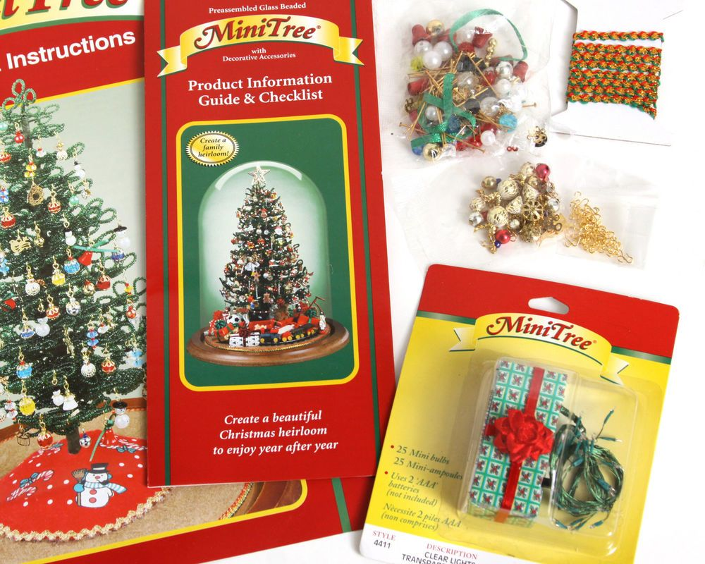 Lot Westrim Craft Mini Bead Ornament Kit Light 50 Gold Hook Xmas