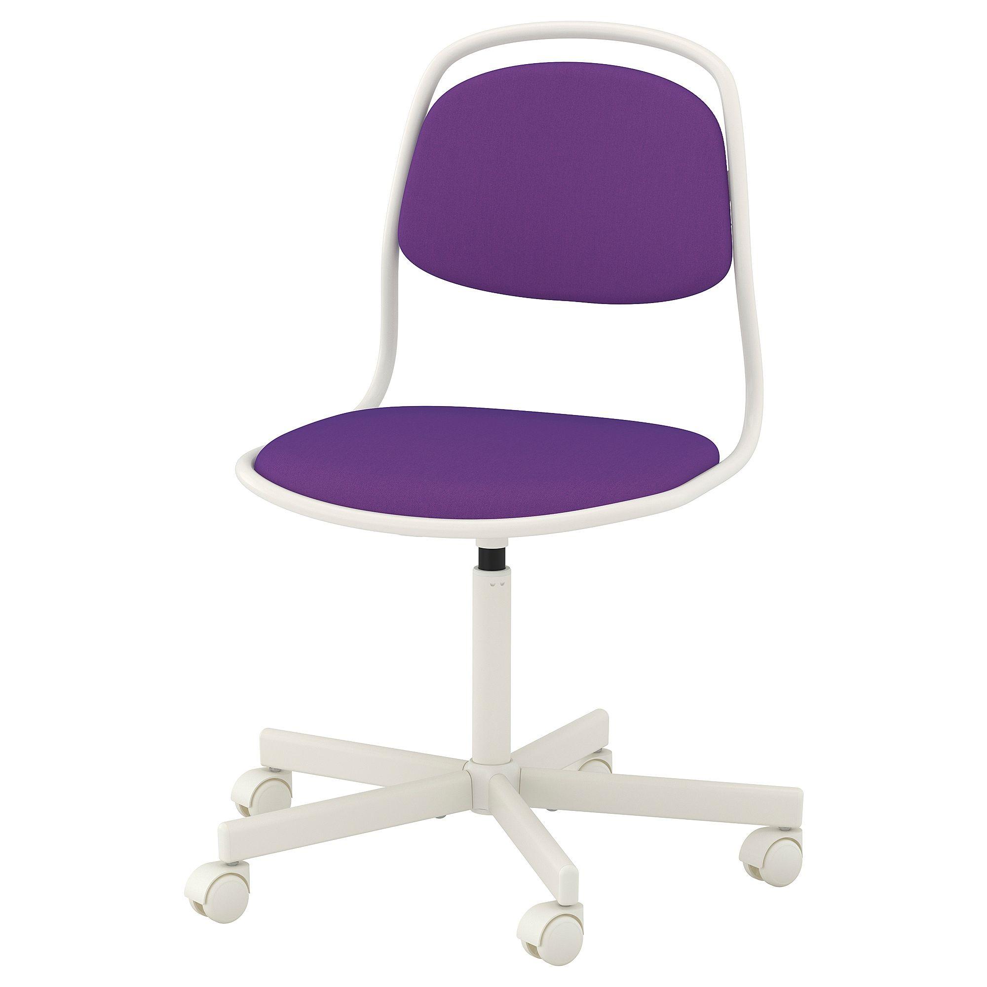 IKEA ÖRFJÄLL Swivel chair white, Vissle purple   Swivel