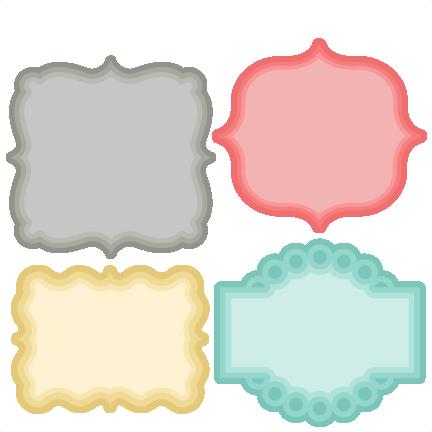 Layered Label Set SVG scrapbook cut file cute clipart files for ...