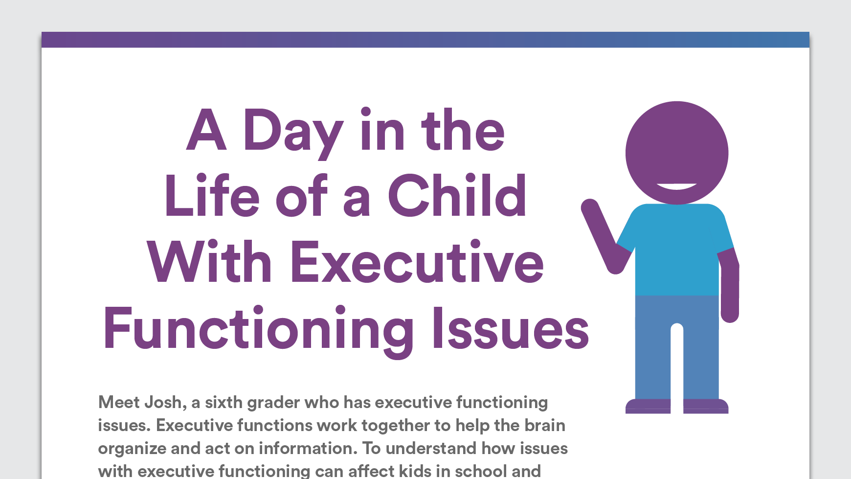 A Day In The Life Of A Child With Executive Functioning