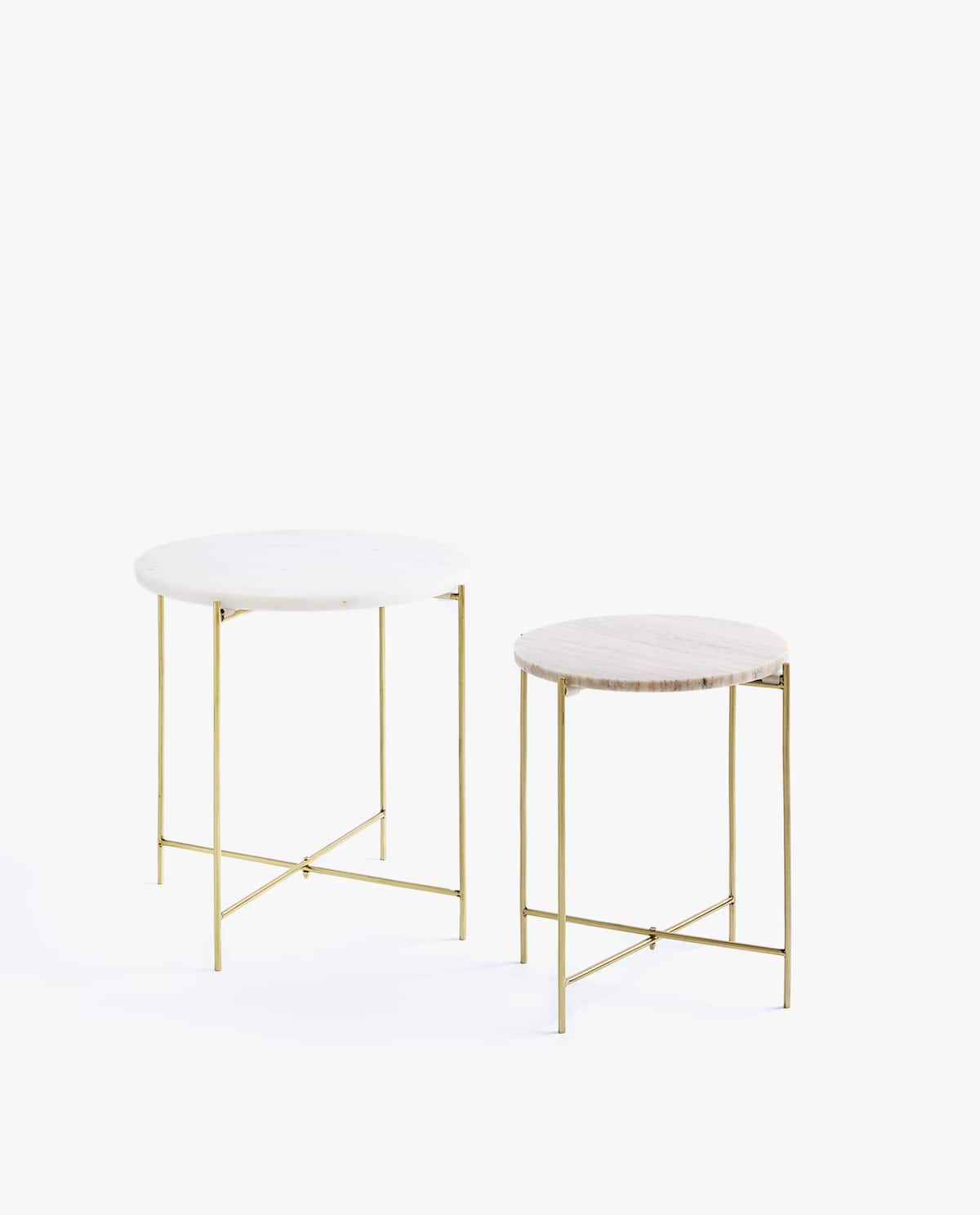 White Marble Table With Gold Structure Table Furniture