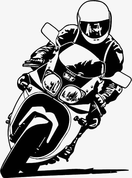 байкеров, люди клипарт, мотоцикл клипарт, Ручной росписью