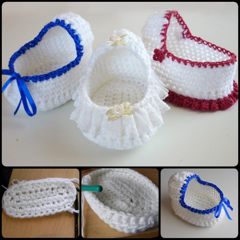 Captivating Crochet Mini Baby Shower Favors With Free Patterns