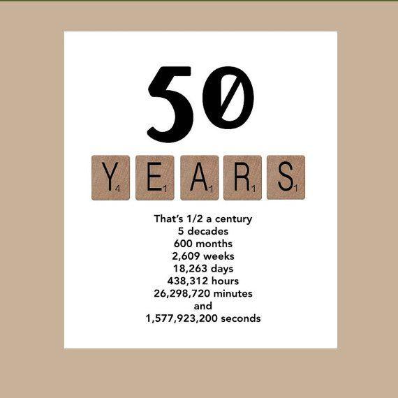 Card Making Ideas 50th Birthday Part - 30: Birthday Card Milestone Birthday Card By DaizyBlueDesigns