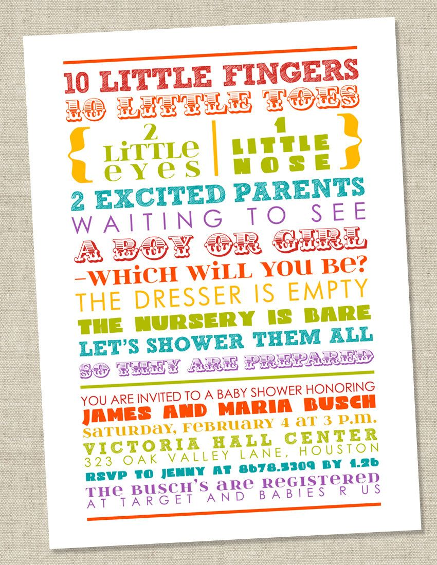 Rainbow Baby Shower Invitation Colorful Words Gender Etsy Colorful Baby Shower Invitations Rainbow Baby Shower Invitations Rainbow Baby Shower