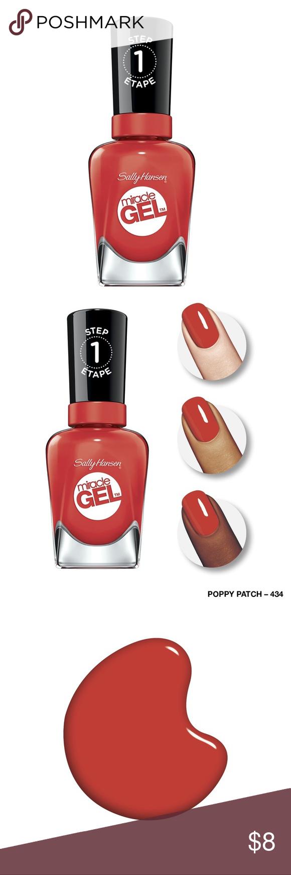 BNWT Sally Hansen Gel Nail Polish in Poppy Patch Brand New