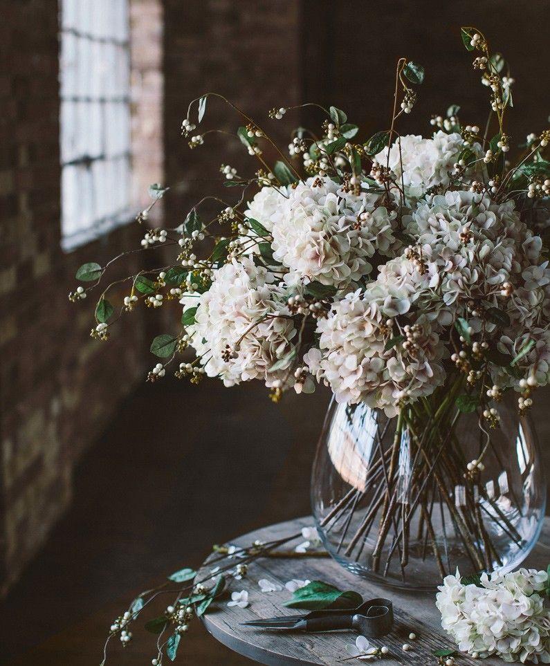 Hydrangea Grand Faux flower arrangements Olive & the
