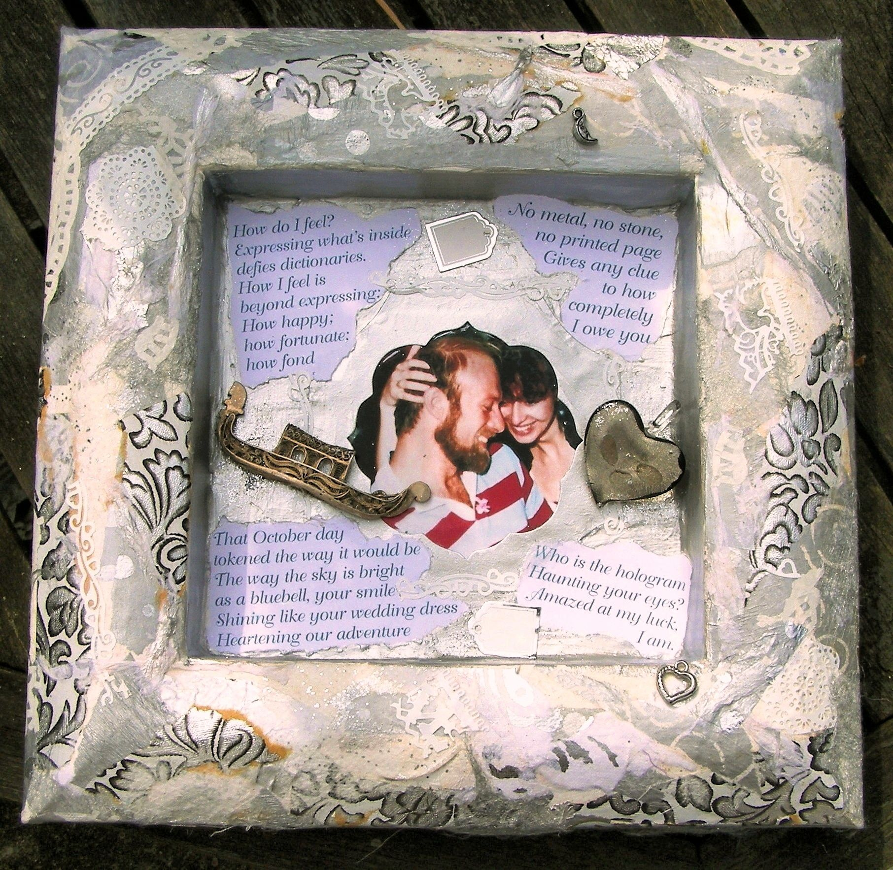 Personalised shadow box from www.driftwood-dreams.co.uk