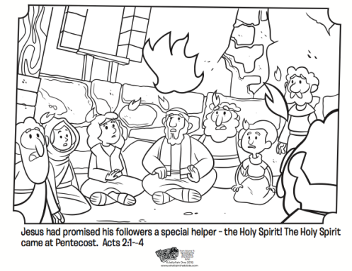 Pentecost Coloring Page Whats In The Bible Pentecost Sunday School Pentecost Sunday School Preschool