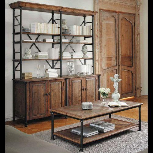 mesa baja de abeto reciclada y metal spanien recycled wood affordable furniture credenza. Black Bedroom Furniture Sets. Home Design Ideas