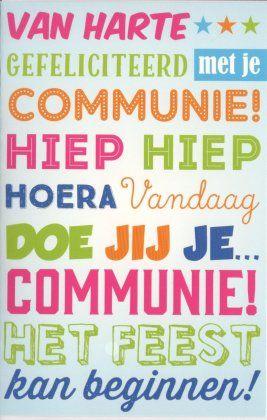 gefeliciteerd met je communie Van harte gefeliciteerd met je communie! Hiep hiep hoera Neutrale  gefeliciteerd met je communie