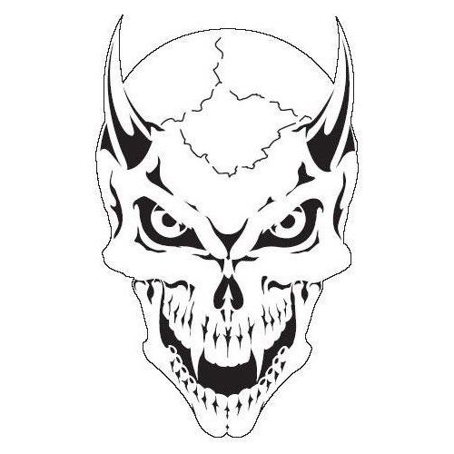 Skull Template Airbrush Stencil | SKULL 17 Scream Skeleton Head ...