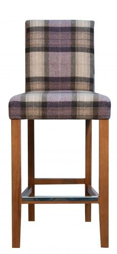 Tartan HOUSTON BAR high back bar stool #barstool #tartan #moon  sc 1 st  Pinterest : high bar stools with backs - islam-shia.org