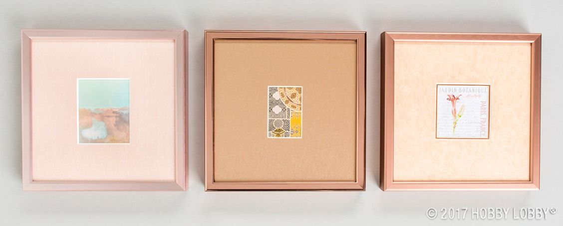 Stay On Trend With Our New Selection Of Rose Gold And Copper Mats And Mouldings Custom Framing Frame Crafts To Make And Sell