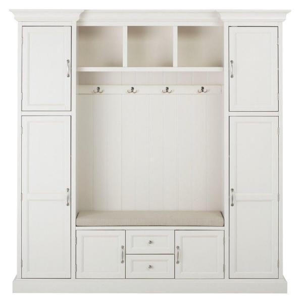Home Decorators Collection Royce Polar White 79 25 Hall Tree
