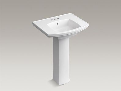 The Pedestal Sink Offers Generous Deck Space, Comfort Height, And A  Transitional Style That Complements A Wide Range Of Bathroom Decors.