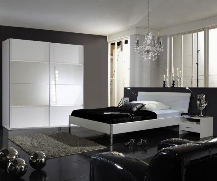 Komplettschlafzimmer sunrise mit strasskristallen for Angebote schlafzimmer komplett