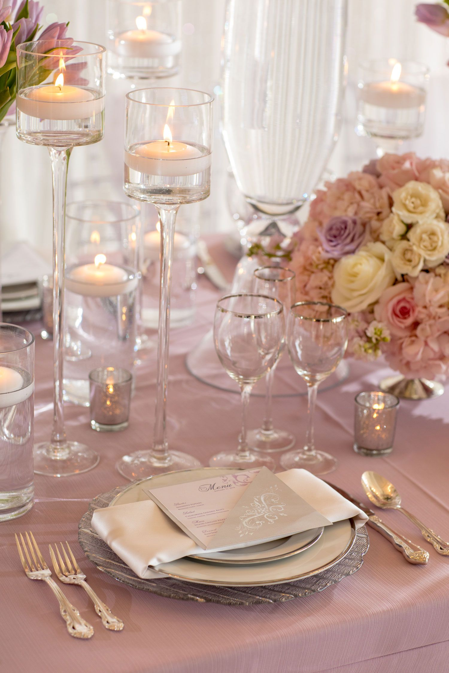 Silver And Lavender Wedding Decorations
