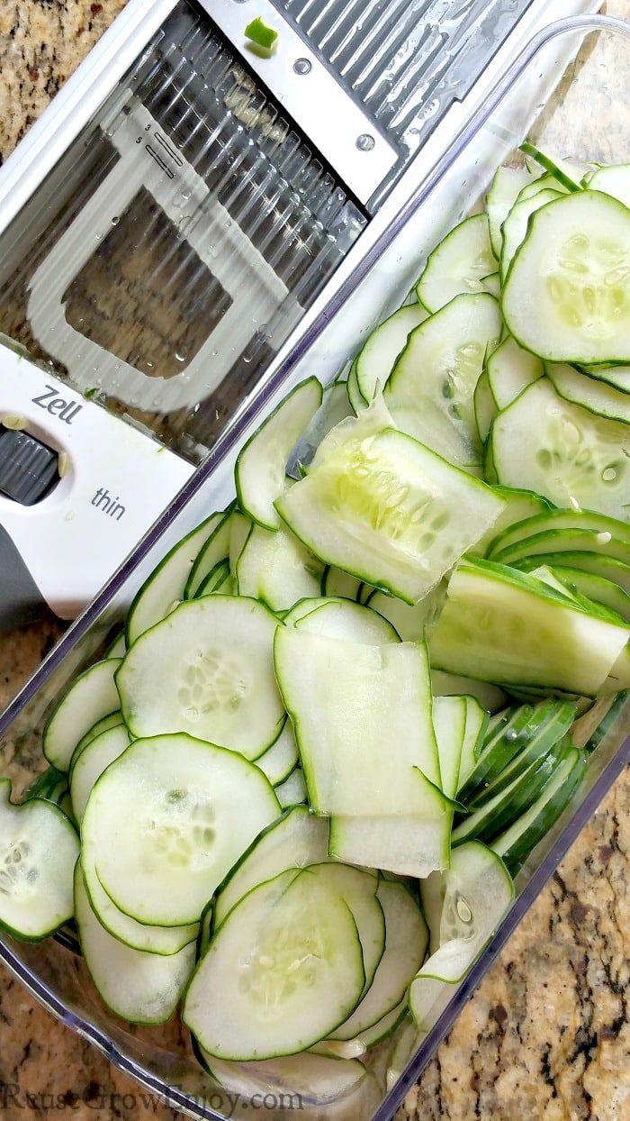 How To Make Cucumber Chips With Salt & Vinegar - Reuse Grow Enjoy