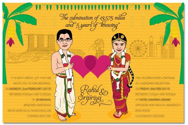 Wedding Invites With Caricatures