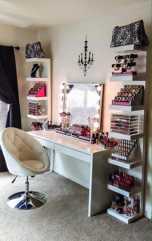 makeup room ideas (make up stations) Tags: Makeup room DIY, makeup room  ideas, makeup room small, dream makeup room
