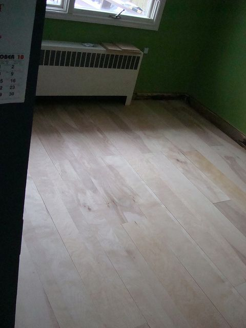 Diy Birch Plywood Floor Plywood Flooring Flooring Plywood Floor