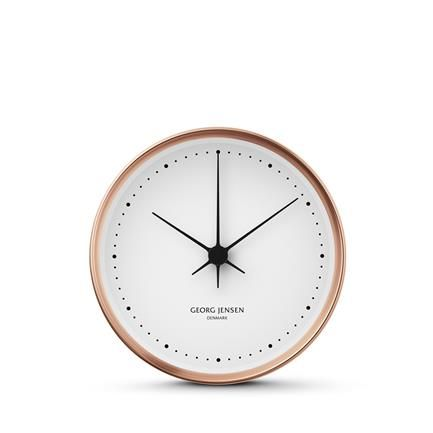 Hk Wall Clock Copper White 10 Cm Henning Koppel Georg Jensen Wall Clock Clock Contemporary Clocks