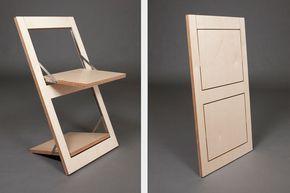 Minimalist S Folding Chair Doubles As Wall Art Folding Furniture