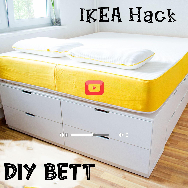 Diy Bett Ikea Hack Plateau Bett Selber Bauen Bett Aus Ikea Kommoden In 2020 Ikea Bed Hack Ikea Storage Bed Ikea Bed