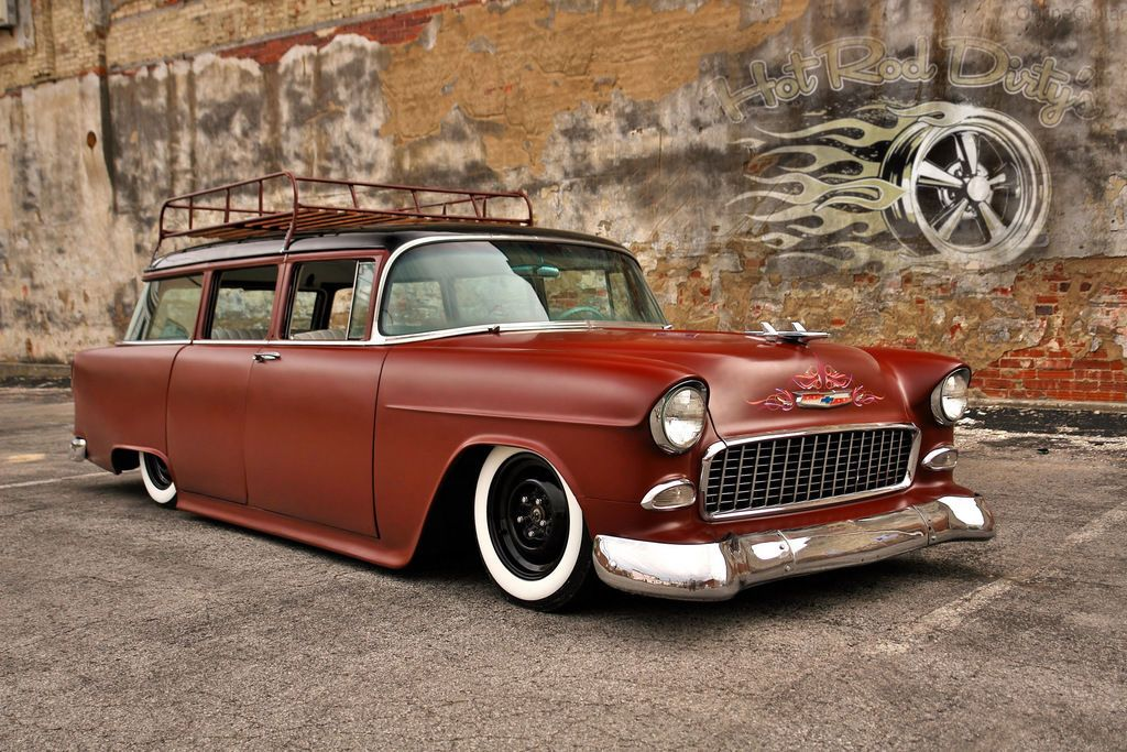 1955 Chevy 3100 Hot Rod Rat Street Patina Nomad Wagon Air Ride Bagged Pro Tour Hot Rods Chevy 1955 Chevy