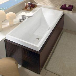 Rectangular bathtub with precision and contours from squaro collection villeroy boch - Baignoire oberon villeroy et boch ...