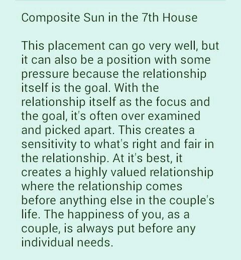 Composite Sun in 7th house ~The relationship~ | Shannon