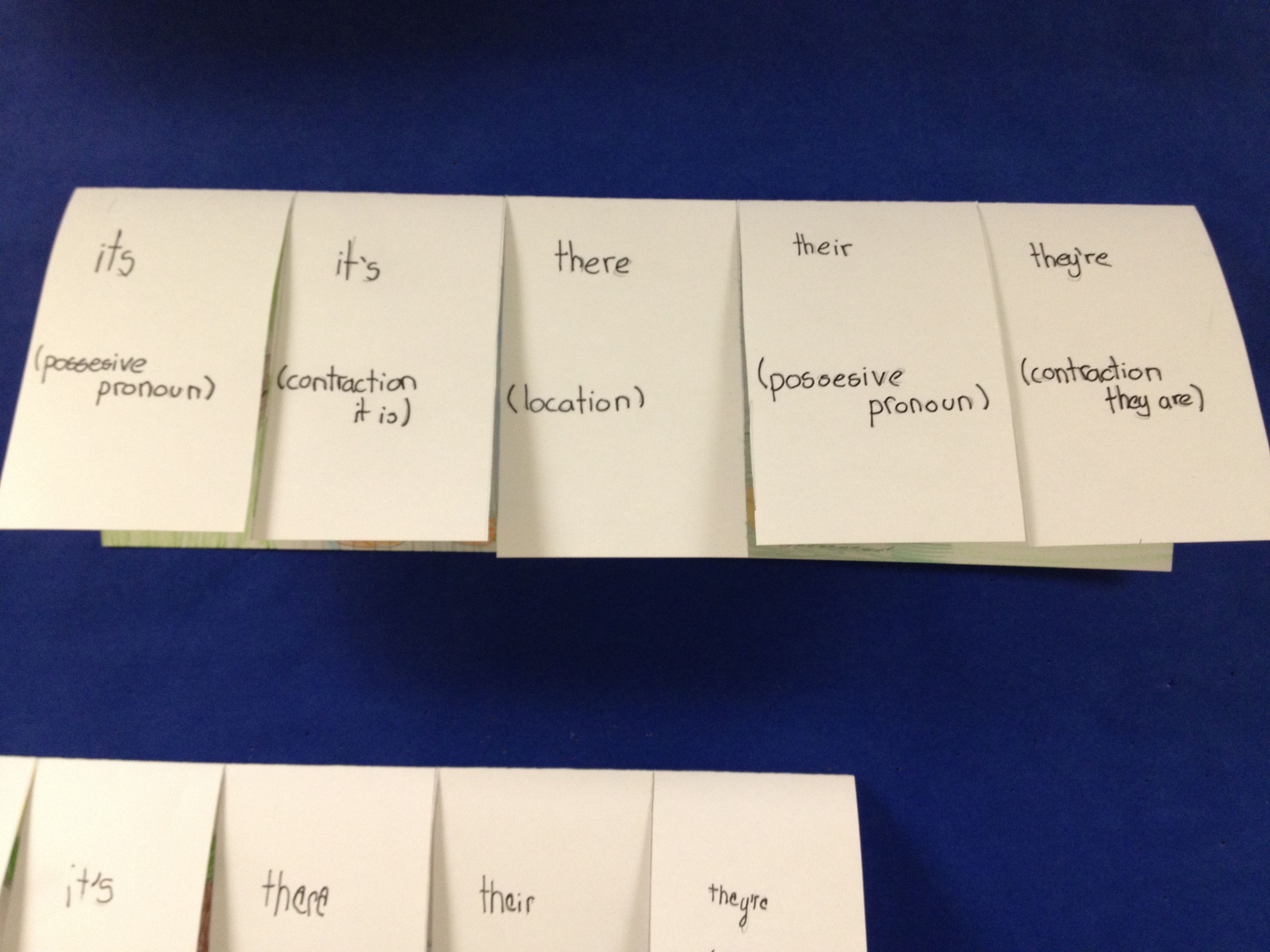 Homophone Flap Book Students Write A Sentence Using