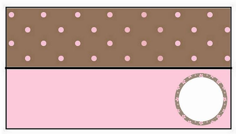 Brown and Pink Polka Dots Free Printable Candy Bar Labels.