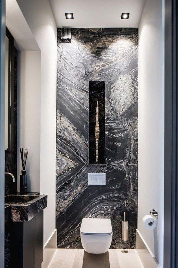 41 Half Bathroom Ideas For Beautiful Bathroom Design Bathroom Inspiration Modern Black Marble Bathroom Small Bathroom Remodel Designs