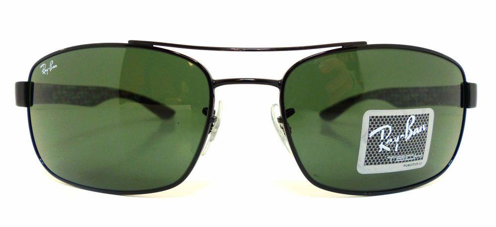 160fb4bb20 Ray-Ban RB 8316 002 N5 Carbon Fibre Green Sunglasses Ray-240 ...