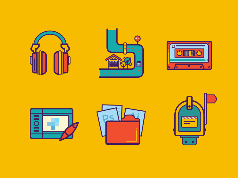 Dribbble - Some line icons by JAoreo