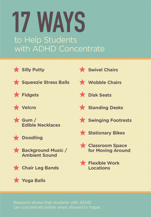 Ways To Help Students With Adhd Concentrate  For Teachers  Adhd  Great Ideas For Letting Students Quietly Fidget  Edutopia