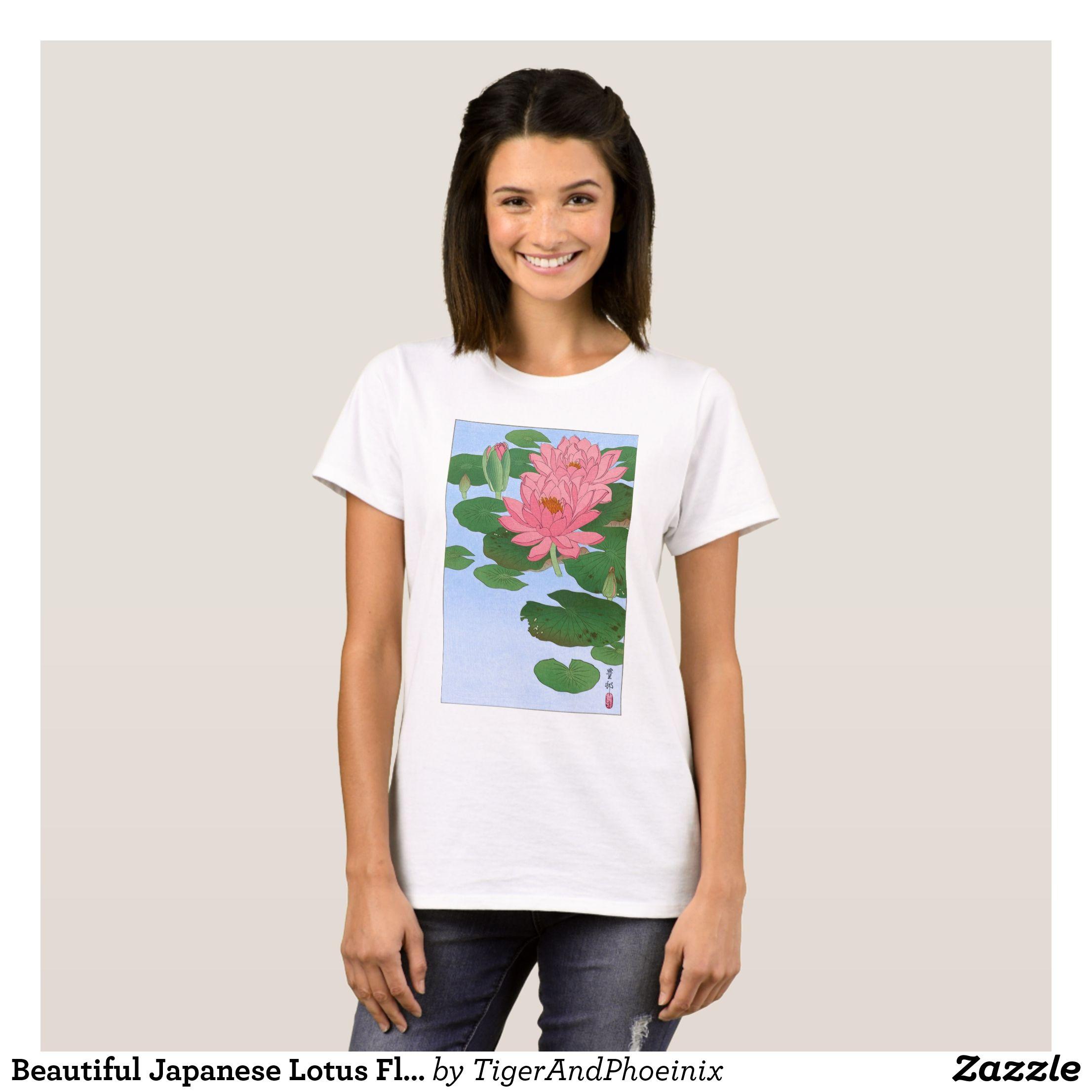 Beautiful japanese lotus flower t shirt lotus flower and flower beautiful japanese lotus flower t shirt izmirmasajfo Images