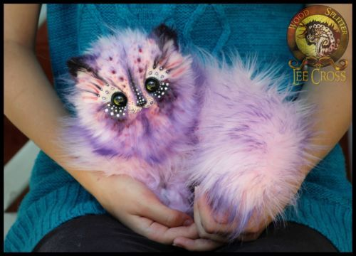 Woodsplitterlee Handmade Poseable Cotten Candy Kitten Fantasy Art Dolls Wood Splitter Lee Cute Animal Drawings