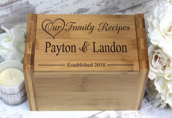 Custom Recipe Box Personalized Recipe Box Wedding Gifts Wood