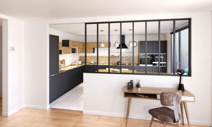 Verriere Interieure Contraste Ambiance Mit Bildern Kuche Und Wohnzimmer Zuhause Dekoration Zimmer Kuche