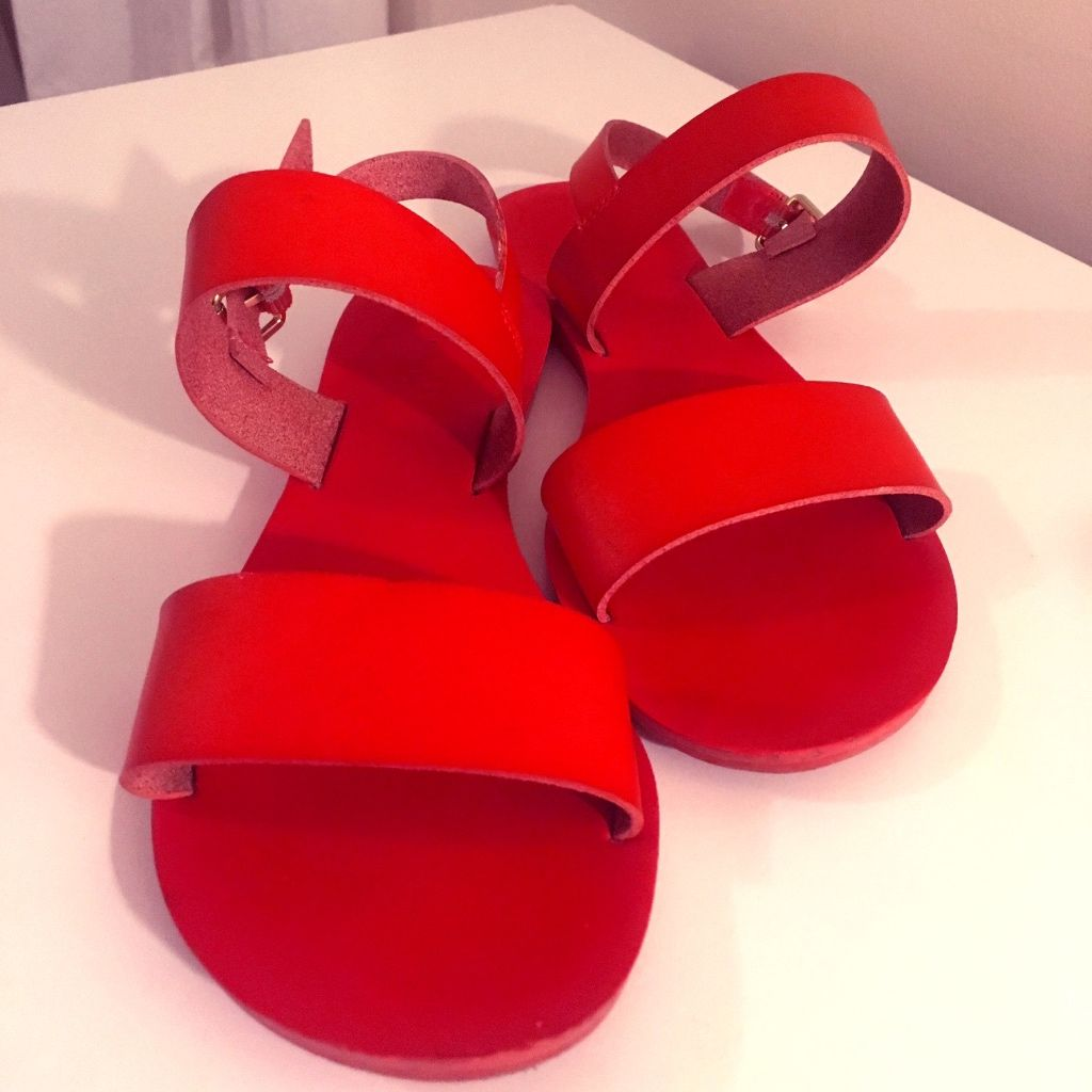 Bright Red Strap Sandals