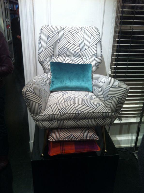 Armchair With Dedar Fabulous Fabric