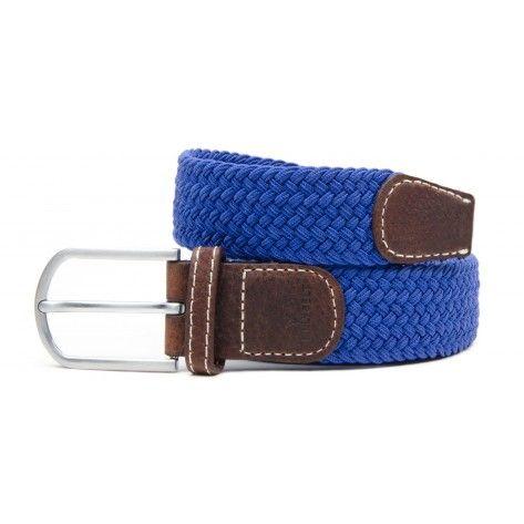 Ceinture bleu roi femme élastique finition cuir en livraison 24 48H,  livraison gratuite dès deux ceintures achetées. 83f079a9ebf