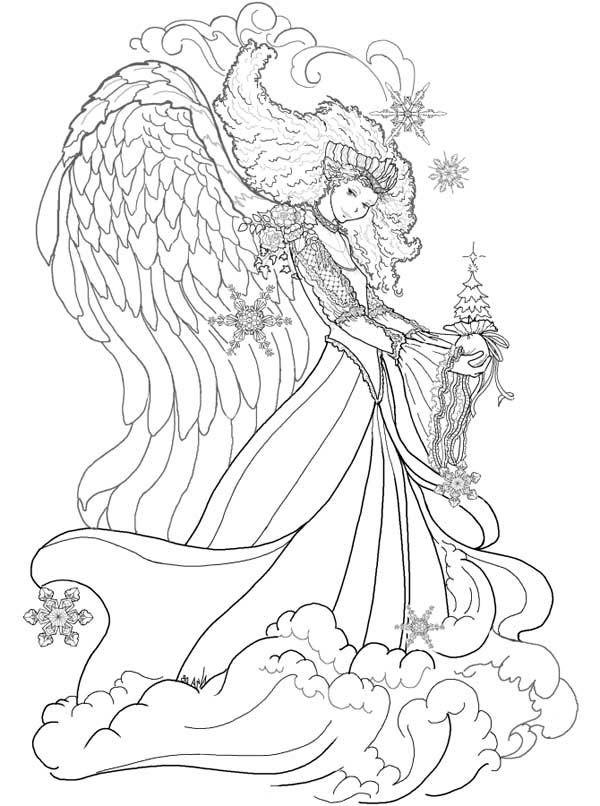 Christmas Fantasy Queen Coloring Page Steampunk Coloring Angel Coloring Pages Coloring Pages