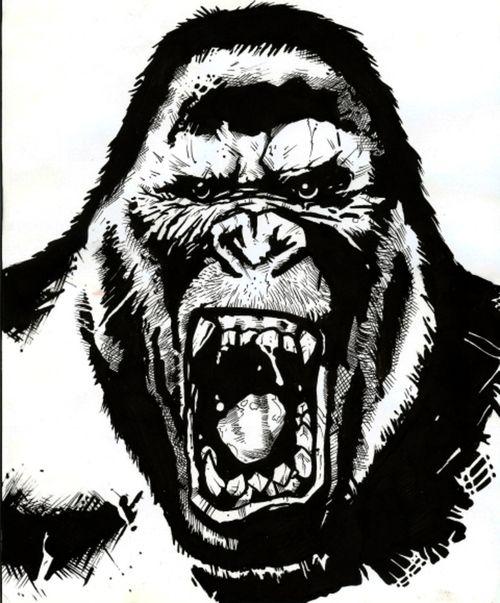 angry gorilla - Google Search   tattoos   Pinterest ... - photo#6
